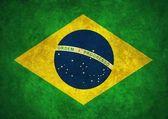 Grunge brasilien flagga — Stockfoto