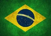 Grunge brazílie vlajka — Stock fotografie