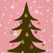 Illustrated Christmas Tree - Stockfoto