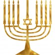 Golden Menorah — Stock Photo #19745771