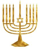 Golden Menorah — Stock Photo