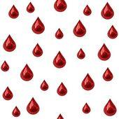 Seamless blood drips — Stock Photo