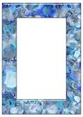 Blue Vertical frame — Stock Photo