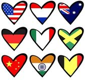 Flag hearts — Stock Photo