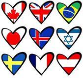 Flag hearts 2 — Stock Photo