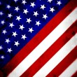 Abstract Angled US Flag - Stock Photo