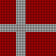 Abstract Denmark Flag — Stockfoto