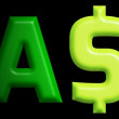 Cash text - Foto de Stock
