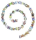 Letter Spiral — Stock Photo