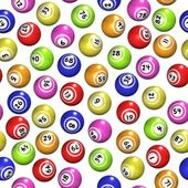 Seamless Bingo Balls — Stock Photo