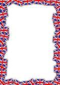великобритании флаг кадр — Стоковое фото