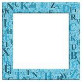 Blue Letter Frame — Stock Photo