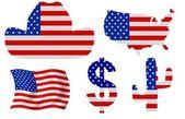 USA Icons — Stock Photo