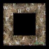 Grunge letter frame — Stock Photo