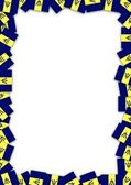 Barbados flag frame — Stock Photo