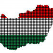 Abstract Hungary flag dotted — Stockfoto