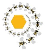Bee Spiral — Stock Photo