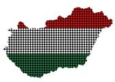 Abstract Hungary flag dotted — Stock Photo