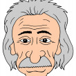 Einstein head — Stock Photo