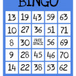 Stock Photo: Bingo game card