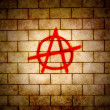 Anarchy symbol - Stock Photo
