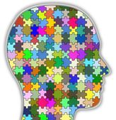 心理学の頭 — ストック写真
