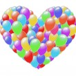 Heart of balloons — Stock Photo #24293933