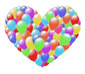 Heart of balloons — Stock Photo