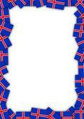 Marco de bandera de islandia — Foto de Stock