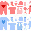 Girls and Boys baby Items — Foto Stock