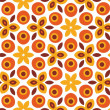 Orange Seamless Pattern - ストック写真