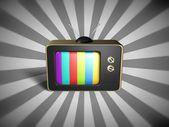 Retro telewizji — Zdjęcie stockowe