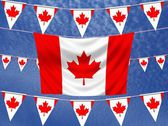 Canada Flags — Stock Photo