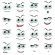 Stock Photo: Cartoon faces