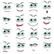 Cartoon faces — Stock Photo