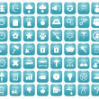 Aqua Downy Icon Set 2 — Stock fotografie