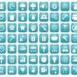 Aqua Downy Icon Set 2 — Stockfoto