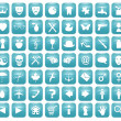 Aqua Downy Icon Set 1 — Stock Photo #38551049