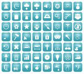 Aqua Downy Icon Set 2 — 图库照片