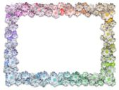 Rectangle Floral Frame — Stok fotoğraf
