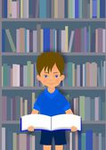Αγόρι με το βιβλίο — Stockfoto