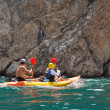 Stock Photo: Kayak. People kayaking in ocean