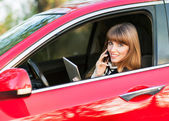Businesswoman on the phone. — Stock Photo
