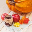 Autumn concept of food Halloween — Stock Photo