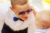 Dad playing with his son — Stock Photo
