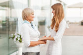 Mom and daughter. — Stock Photo