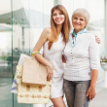 vuxen mor och dotter — Stockfoto