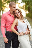 Portrait of young couple in love — Stock Photo