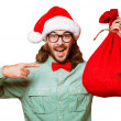 Santa Claus with the bag of the presents — Foto de Stock