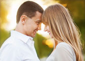 Young couple in love outdoor. — Stock Photo